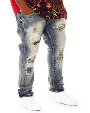 Jeans - Shredded Jeans With Paint Splatter (B&T)-2674014