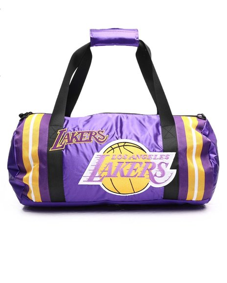 Mitchell & Ness - Los Angeles Lakers Satin Duffle Bag (Unisex)