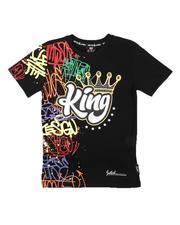Tops - King Half Graffiti Tee W/ Rhinestones (8-20)-2672460