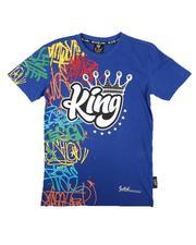 Tops - King Half Graffiti Tee W/ Rhinestones (8-20)-2672470