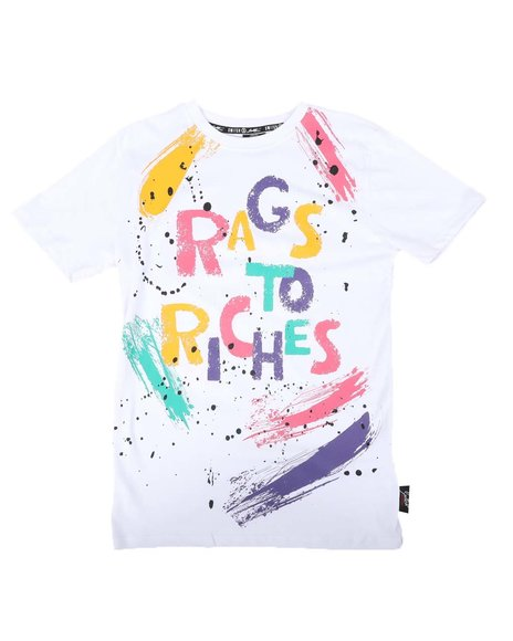 SWITCH - Multi Color Brush Strokes & Verbiage Tee (8-20)