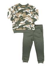 Buffalo - 2 Pc Camo Sweatshirt & Fleece Jogger Pants Set (4-7)-2672325