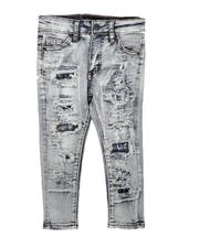 Sizes 4-7x - Kids - Rip & Repair Backed Jeans (2-7)-2672351