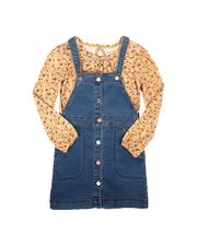 BCBGirls - 2 Pc T-Shirt &  Denim Jumper Set (7-16)-2672310