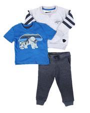 Buffalo - 3 Pc Graphic Tee, Sweatshirt & Fleece Jogger Pants Set (Infant)-2673761