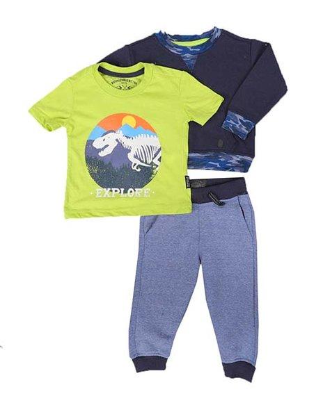 Buffalo - 3 Pc Graphic Tee, Sweatshirt & Fleece Jogger Pants Set (Infant)