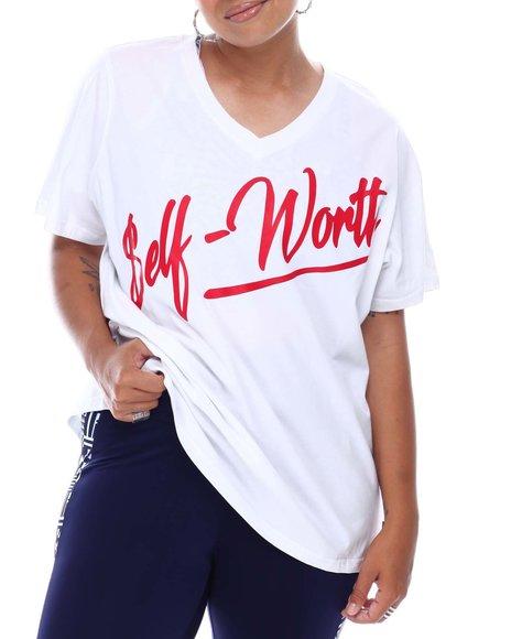 Fila - Self Worth V-Neck Tee(Plus)