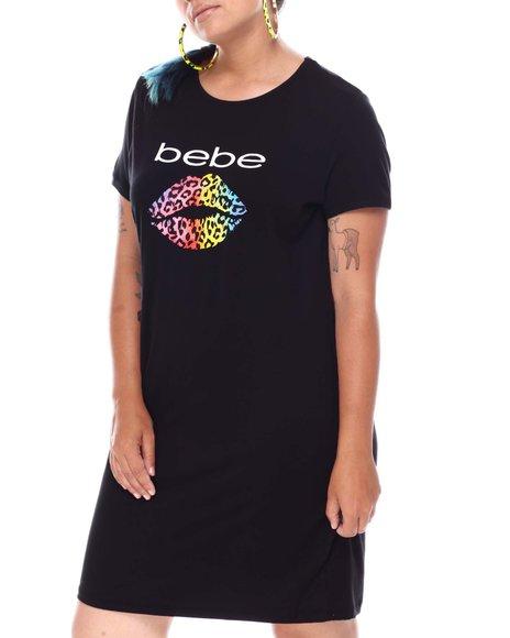 Bebe - S/S Mini Screen Print Dress ( Plus)
