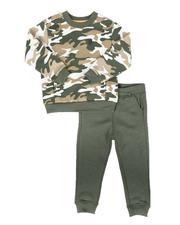 Buffalo - 2 Pc Camo Sweatshirt & Fleece Jogger Pants Set (2T-4T)-2672778