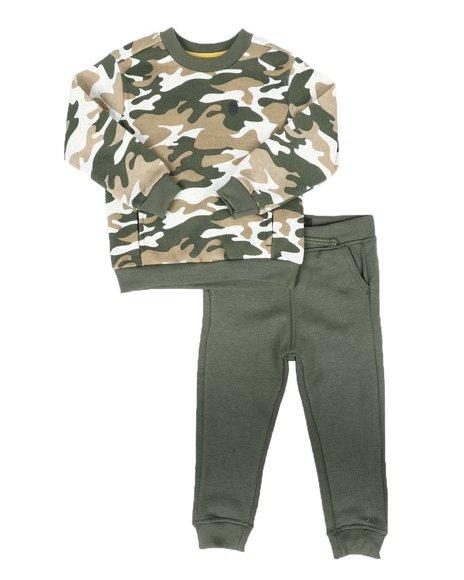 Buffalo - 2 Pc Camo Sweatshirt & Fleece Jogger Pants Set (2T-4T)
