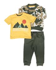 Buffalo - 3 Pc Camo Sweatshirt,Graphic Tee & Fleece Jogger Pants Set (Infant)-2672782