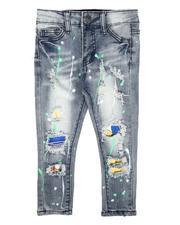 Sizes 4-7x - Kids - Destructed Paint Splatter Jeans (2-7)-2673084