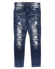 Arcade Styles - Distressed Moto Jeans (8-20)-2673185