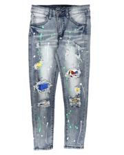 Arcade Styles - Destructed Paint Splatter Jeans (8-20)-2673237