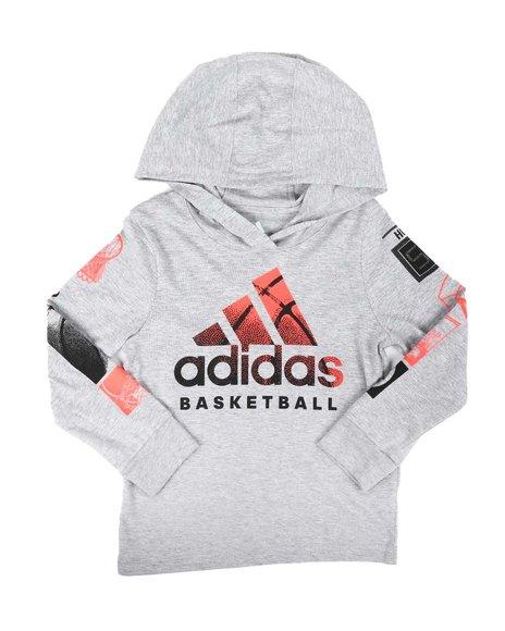 Adidas - Goals Hooded Heather Tee (2T-7)
