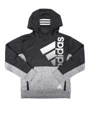 Adidas - Colorblock Melange Hooded Pullover (8-20)-2674613