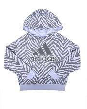 Girls - AOP Fleece Hooded Pullover (7-16)-2674703