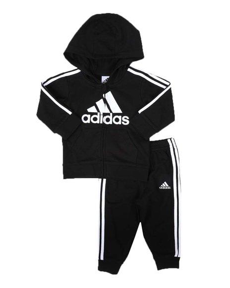 Adidas - 2 Pc French Terry Hooded Jacket & Jogger Pants Set (3-24Mo)