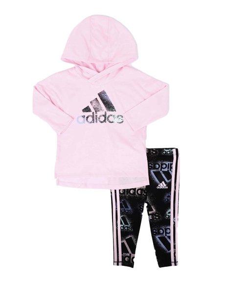 Adidas - 2 Pc Long Sleeve Tee & Tights Set (3-24Mo)