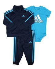 Adidas - 3 Pc Tricot Track Jacket, Track Pants & Onesie Bodysuit Set (3-12Mo)-2674810