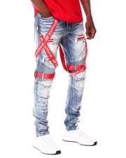 SMOKE RISE - Red Tape Cross Detail Moto Jean-2675281