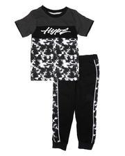 Arcade Styles - 2 Pc Tie-Dye Graphic Tee & Jogger Pants Set (8-18)-2674497