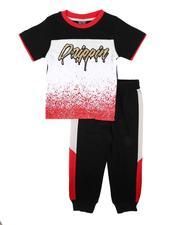 Sets - 2 Pc Drippin Color Block Tee & Jogger Pants Set (2T-4T)-2674501