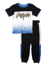 Arcade Styles - 2 Pc Drippin Color Block Tee & Jogger Pants Set (4-7)-2674513
