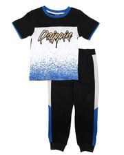 Arcade Styles - 2 Pc Drippin Color Block Tee & Jogger Pants Set (8-18)-2674534