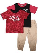 Arcade Styles - 3 Pc Tie Dye Tee, Graphic Tee & Jogger Pants Set (4-7)-2673861