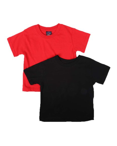 Arcade Styles - 2 Pack Solid Crew Neck T-Shirts (2T-4T)