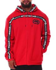 Big & Tall Faves - Chest Printed Tape Full Zip Hoodie (B&T)-2676141