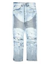 Arcade Styles - Distressed Moto Jeans (8-18)-2674939