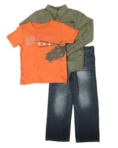 Lee - 3 Pc Woven Shirt, Tee & Jeans Set (4-7)