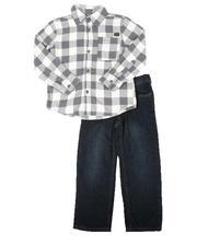 Boys - 2Pc Woven Shirt & Jeans Set (4-7)-2675417