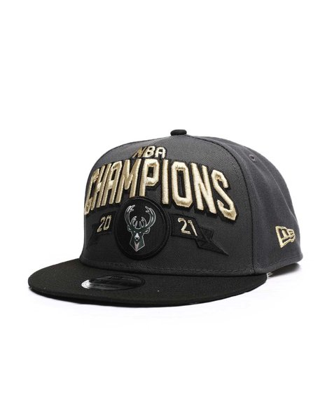 New Era - Milwaukee Bucks New Era 2021 NBA Finals Champions Locker Room 9FIFTY Snapback Hat