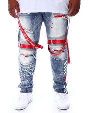 SMOKE RISE - Distressed & Strapped Denim Jeans (B&T)-2676495