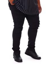 SMOKE RISE - Distressed Moto Denim Jeans (B&T)-2676522