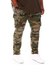 SMOKE RISE - Distressed Cargo Pants (B&T)-2675188