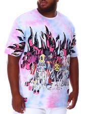 SMOKE RISE - Tie Dye Rhinestone Graphic T-Shirt (B&T)-2676295