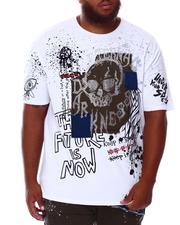 SMOKE RISE - Skull Rhinestone T-Shirt (B&T)-2676304