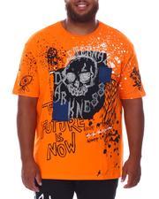 SMOKE RISE - Skull Rhinestone T-Shirt (B&T)-2676313