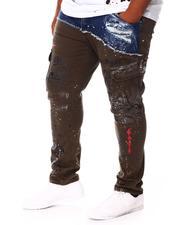 Men - Mixed Material Cargo Pants (B&T)-2676389