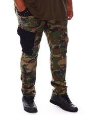 SMOKE RISE - Mixed Material Cargo Pants (B&T)-2676396