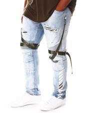 SMOKE RISE - Distressed & Strapped Denim Jeans (B&T)-2676475