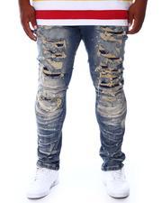SMOKE RISE - Distressed Moto Denim Jeans (B&T)-2676529
