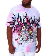 Men - Tie Dye Rhinestone Graphic T-Shirt (B&T)-2676295