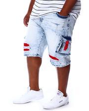 Men - Cargo Shredded Denim Jean Shorts (B&T)-2676711