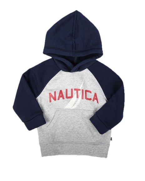 Nautica - Raglan Long Sleeve Pullover Hoodie (2T-4T)