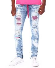 Frost Originals - SHREDDED JEANS W/ STONES & CORD-2677703